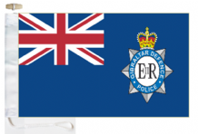Gibraltar Defence Police Ensign Courtesy Boat Flags (Roped and Toggled)